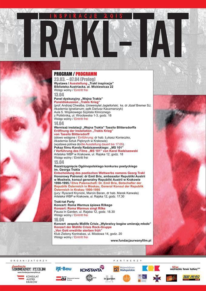 TRAKL-TAT. Inspirations - Arts & Literature Festival, Krakow
