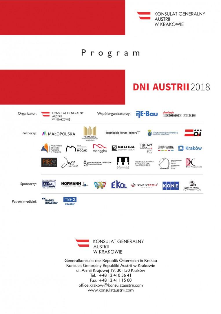 The Austrian Days, Krakow, 17.10 - 22.11.2018